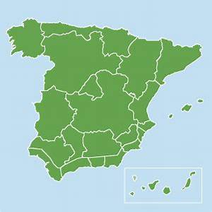 Map of property in Spain