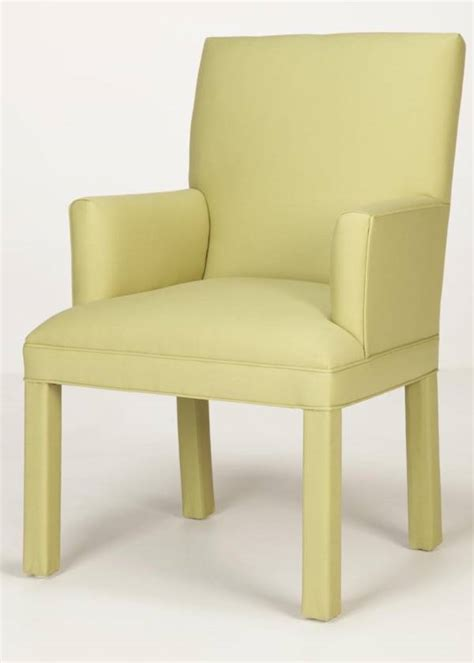 back parsons arm chair custom made in nc