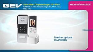 Gev Video Türsprechanlage : gev funk video t rsprechanlage cvf 86012 youtube ~ Orissabook.com Haus und Dekorationen