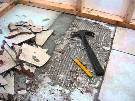 removing ceramic tile  concrete youtube