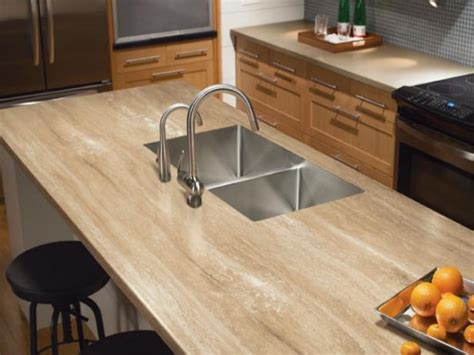 travertine  solid surface kitchen countertop hgtv