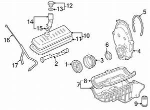 Chevrolet Silverado 1500 Engine Timing Cover  2003