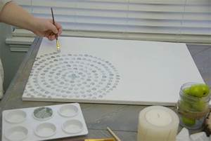 ideas for decorating a large wall diy canvas wall art With what kind of paint to use on kitchen cabinets for 3d circle wall art