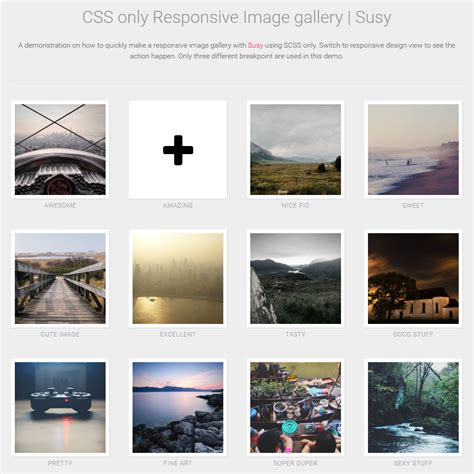 responsive template css css responsive image gallery coding code css css3