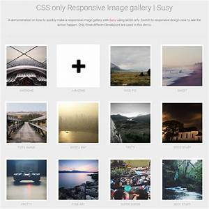 Pure CSS Responsive Image Gallery Coding Simple Web