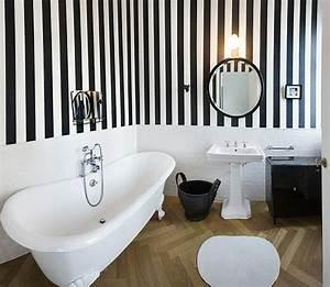 Déco Salle De Bain Noir Et Blanc : d co salle de bain r tro du charme l 39 ancienne ~ Melissatoandfro.com Idées de Décoration