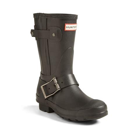 moto style boots hunter short moto rain boot rank style