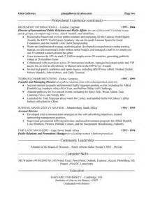 international relations resume skills relations executive resume exle