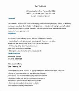 26 teacher resume templates free sample example format With free education resume templates