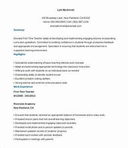 26 teacher resume templates free sample example format With free resume templates for teachers to download