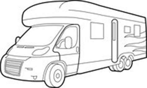 motorhome clipart black and white free recreational vehicle clipart pictures illustrations