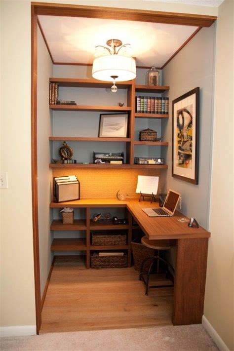 17 best ideas about closet turned office on