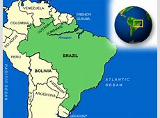 Map of Brazil Terrain, area and outline maps of Brazil