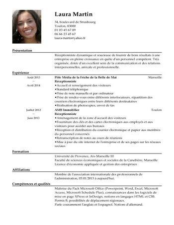 Les Exemples Des Cv by Exemple De Cv