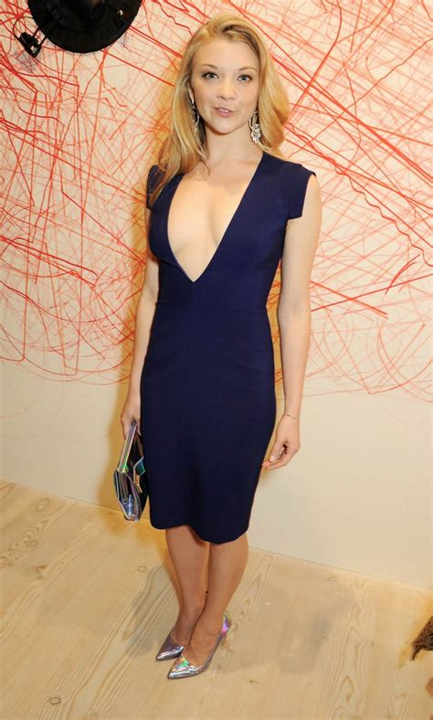 natalie dormer pics natalie dormer braless wearing a cleavage dress at