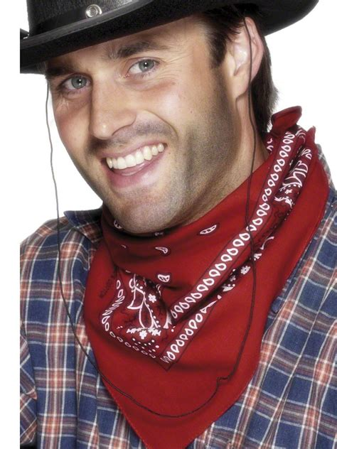 bandana neckerchief red  fancy dress ball