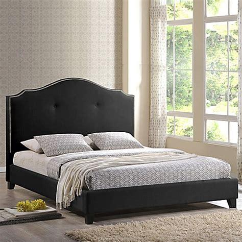 6134 baxton studio king bed baxton studio marsha scalloped bed with headboard bed