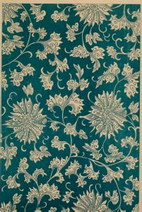 vintage chinese floral pattern  teal   coloring page