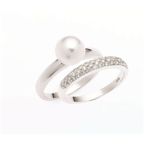 pearl wedding rings pearl engagement ring wedding band this is to get the band and engagement ring at