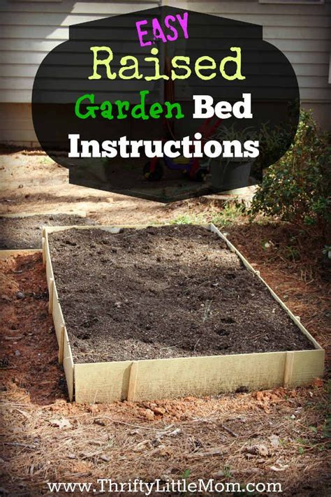easy raised bed garden easy raised garden bed instructions