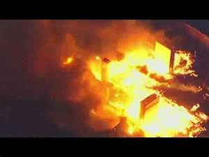 Senior center on fire after riot in Baltimore - YouTube