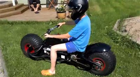 super dad builds  sons  batpod video