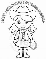 Cowgirl Coloring Pages Printable Birthday Personalized Clipart Colouring Cowgirls Cowboy Barbie Pigtails Bratz Jasmine Sheets Horse Agarwal Kajal Library Sold sketch template