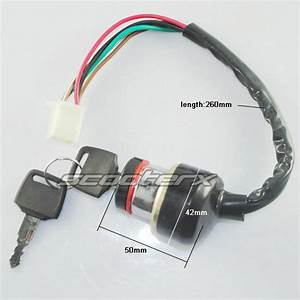Gy6 Key Ignition Switch Lock Set 6 Wire 49cc 50cc 150cc