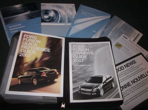ford fusion owners manual owners set  case ebay
