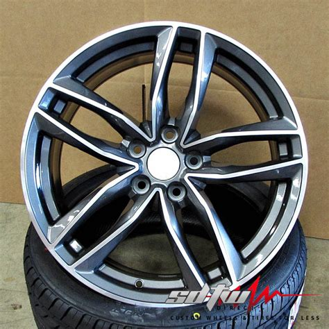 avant  style wheels rims gunmetal machined fits audi