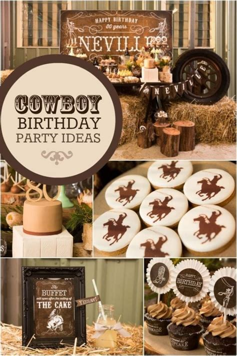 country  western cowboy themed  birthday party