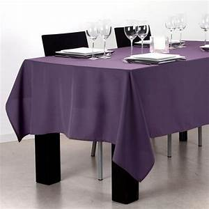 Nappe De Table Rectangulaire : nappe rectangulaire l240 cm uni violet nappe de table eminza ~ Teatrodelosmanantiales.com Idées de Décoration