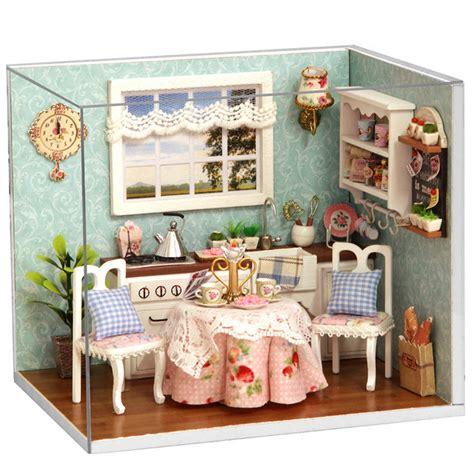 Cuteroom Dollhouse Miniature Dining Room Diy Kit With