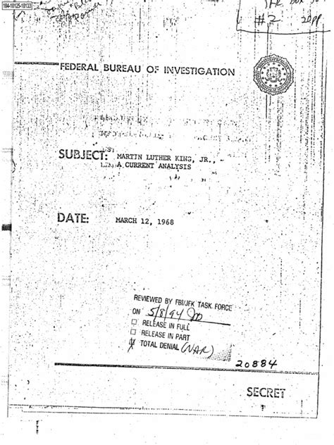 And not necessarily in that order. MLK FBI Analysis