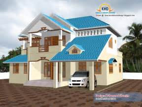 Home Design Free Beautiful Home Elevation Design In 3d Kerala Home Design And Floor Plans