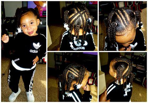 Toddler/Kid Style 4 X Braids 4 Ponytails w/Twists   YouTube