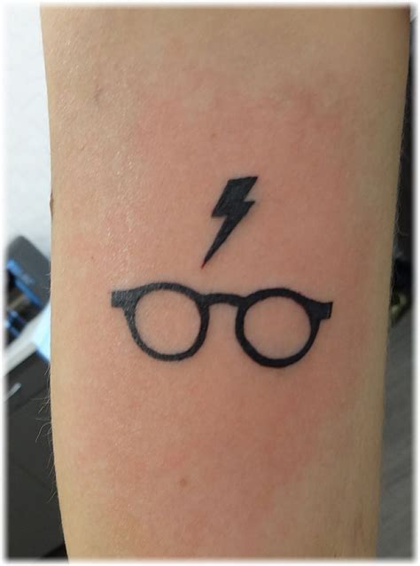 harry potter tattoo scar lightning glasses tattoos
