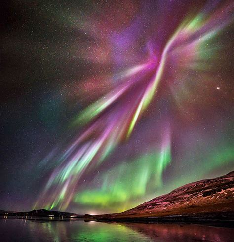 northern lights forecast reykjavik iceland 39 s northern lights man takes stunning pictures of