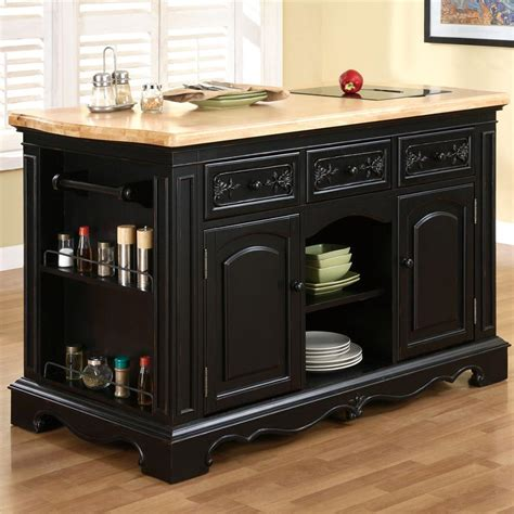 pennfield kitchen island powell pennfield kitchen island with three drawers