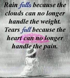 Rain and Tears love life quotes quotes quote rain clouds ...