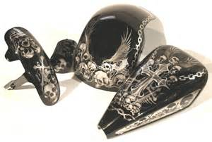 Custom Motorcycle Paint Airbrush Skulls