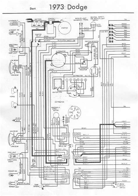 1966 Dodge Dart Wiring Diagram by 1973 Dodge Dart Wiring Bob S Garage Library