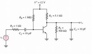 Solved  Draw The Equivalent Circuit Of This Amplifier Resp