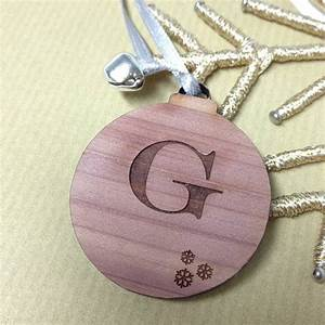 personalised initial letter gift tags decorations by With letter gift tags