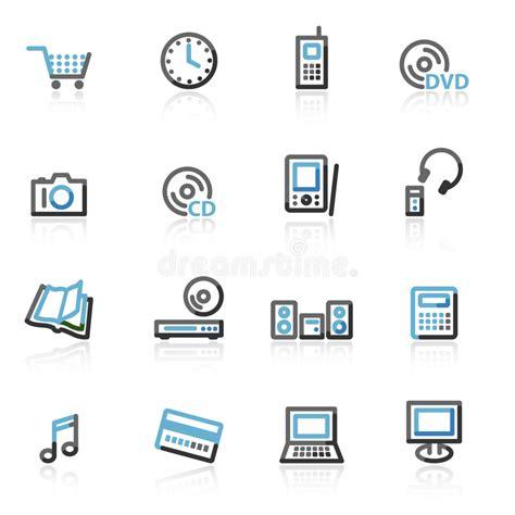 Iconos Del Web Del Servidor Del Contorno Ilustración del