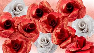 Rosen Aus Papier : ideen mit herz rosen aus papier basteln quilling faltpapier youtube ~ Frokenaadalensverden.com Haus und Dekorationen