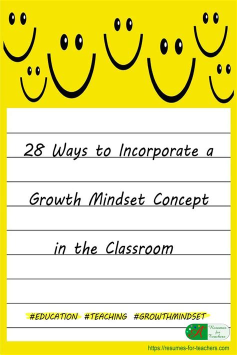 ways  incorporate  growth mindset concept