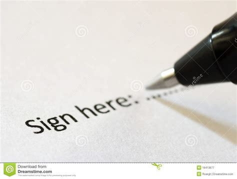 Sign Here Stock Image Image Of Here, Sign, Deal, Point