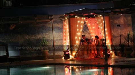 Poolside Dinner by 3 Best Poolside Candlelight Dinners In Delhi To