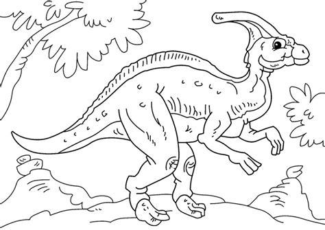 Kleurplaat Grote Dinosaurus by Kleurplaat Dinosaurus Parasaurolophus Afb 27629 Images